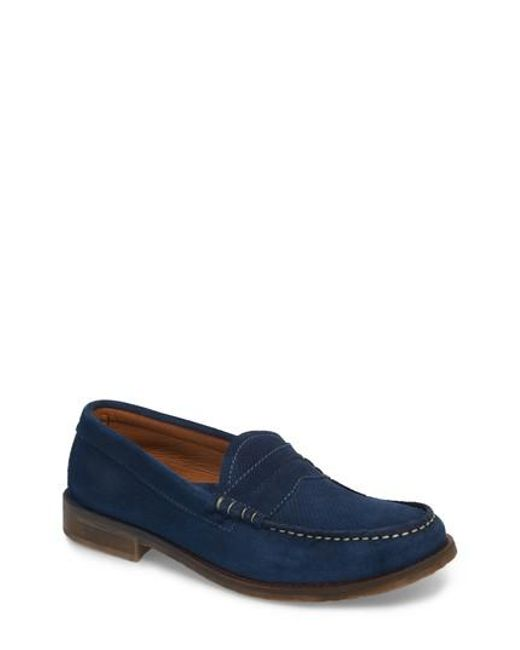 Pajar - Blue Wayne Textured Penny Loafer for Men - Lyst