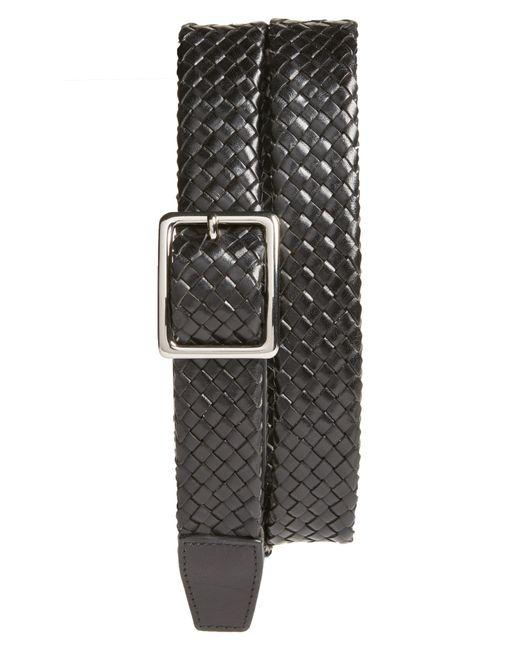 Cole Haan - Black Woven Leather Belt for Men - Lyst