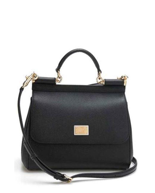 Dolce & Gabbana   Black 'small Miss Sicily' Satchel   Lyst