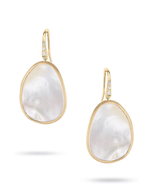 Marco Bicego - White Lunaria Mother Of Pearl Drop Earrings - Lyst
