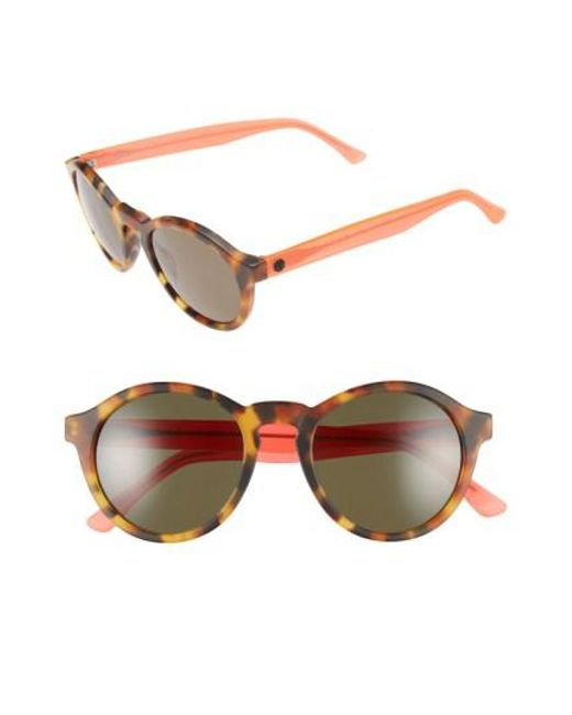 Electric | Pink 'reprise' 50mm Round Sunglasses | Lyst
