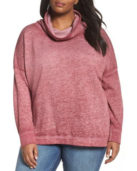 Caslon | Pink Caslon Pleat Back Sweatshirt | Lyst