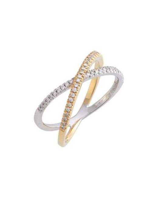 Bony Levy | Metallic Stackable Crossover Diamond Ring (nordstrom Exclusive) | Lyst