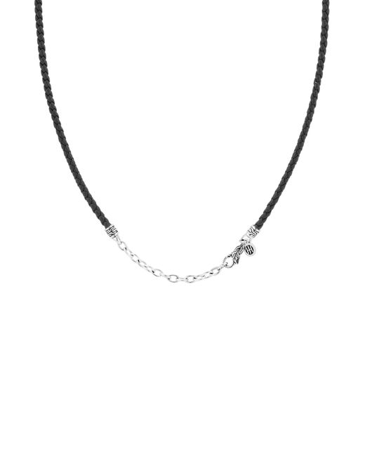 John Hardy - Metallic Leather Cord Necklace for Men - Lyst