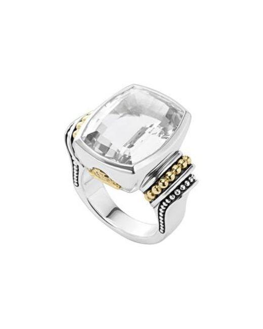 Lagos | White 'caviar Color' Large Semiprecious Stone Ring | Lyst