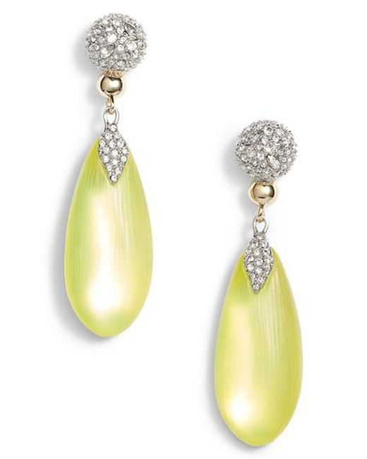 Alexis Bittar | Yellow Crystal Encrusted Lucite Drop Earrings | Lyst