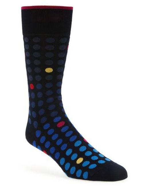 Bugatchi | Blue Dot Crew Socks for Men | Lyst