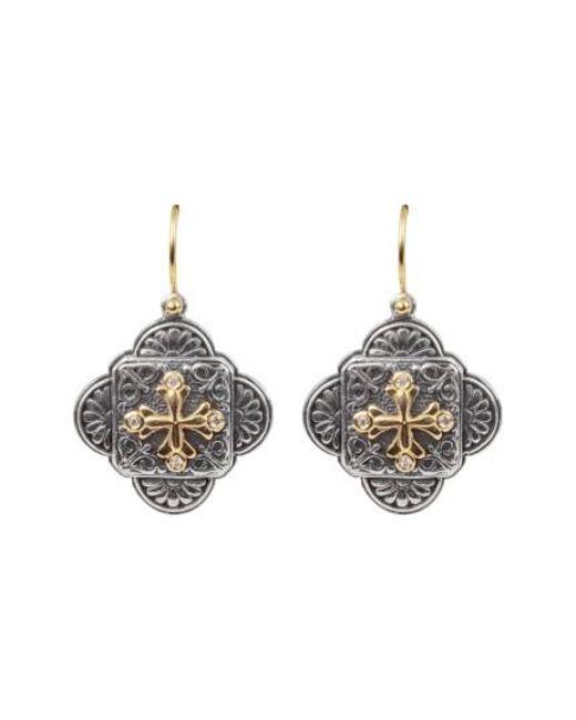 Konstantino - Metallic Diamond Clover Drop Earrings - Lyst
