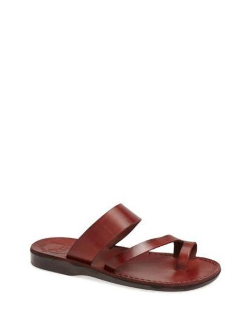 Jerusalem Sandals | Brown 'zohar' Leather Sandal for Men | Lyst