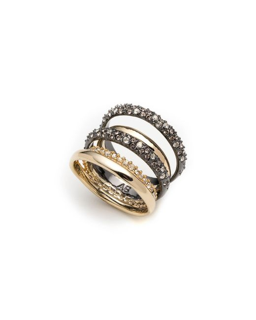Alexis Bittar - Metallic Pave Stack Ring - Lyst