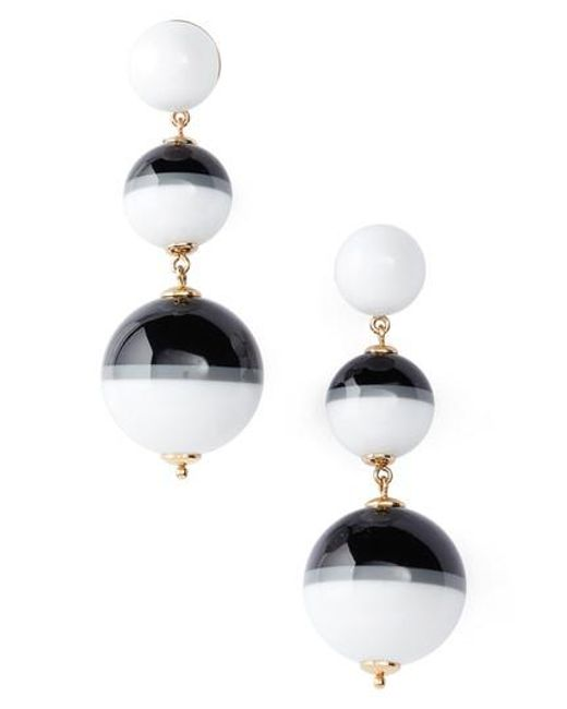 Kate Spade | White In A Flash Drop Earrings | Lyst
