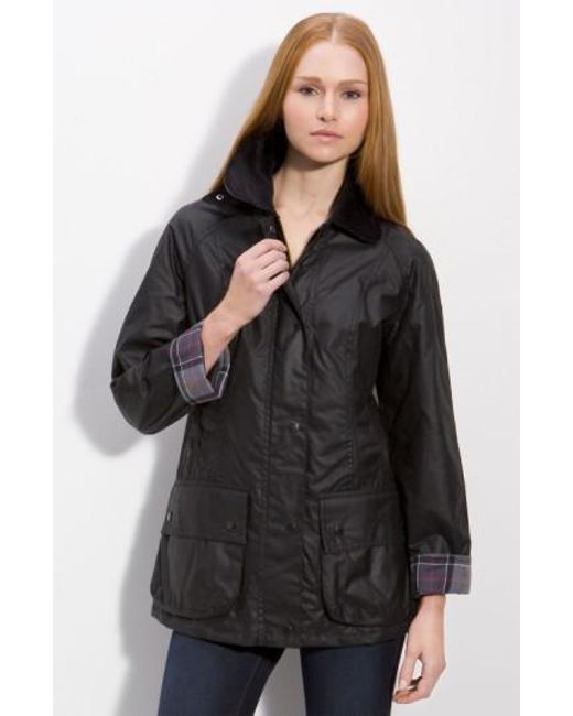 Barbour - Black Beadnell Waxed Cotton Jacket - Lyst