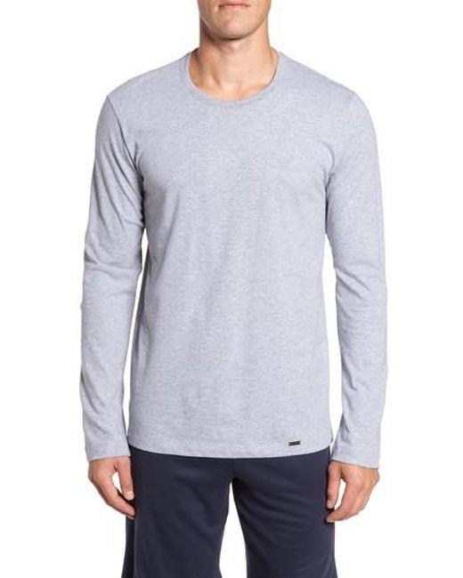 Hanro - Gray Living Long Sleeve T-shirt for Men - Lyst