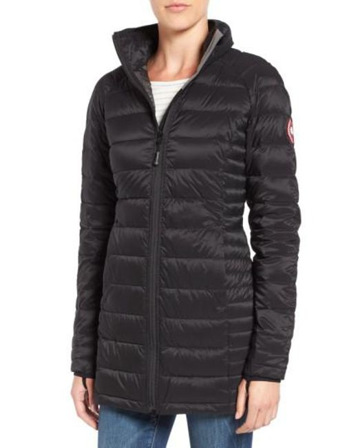 Canada Goose - Black 'Brookvale' Hooded Quilted Down Coat - Lyst