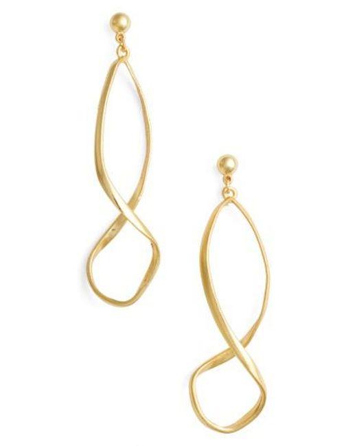 Karine Sultan   Metallic Drop Earrings   Lyst