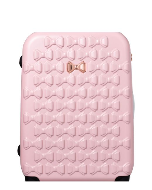 Ted Baker - Pink Large Beau Bow Embossed Four-wheel 31-inch Trolley Suitcase - Lyst