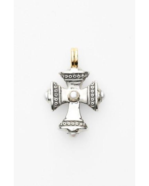 Konstantino   Metallic 'kassandra' Small Maltese Cross Pendant   Lyst
