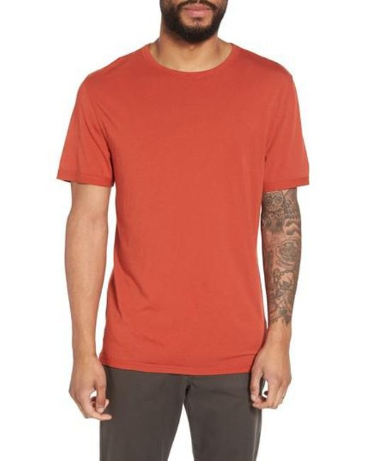 Vince - Orange Reverse Hem Slim Fit T-shirt for Men - Lyst