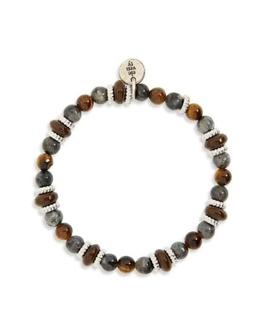 Eleventy - Gray Bead Bracelet - Lyst