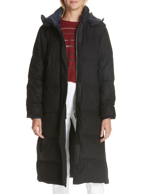 Rag & Bone - Black Jenset Quilted Wool Blend Coat - Lyst
