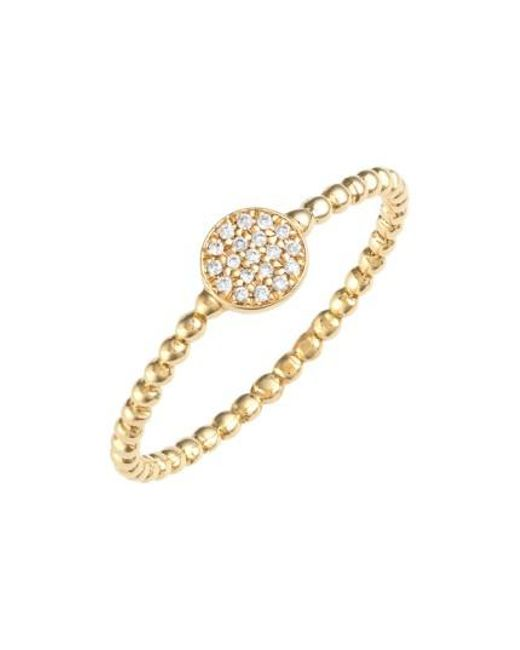 Bony Levy | Metallic 'aurora' Diamond Pave Circle Ring (nordstrom Exclusive) | Lyst