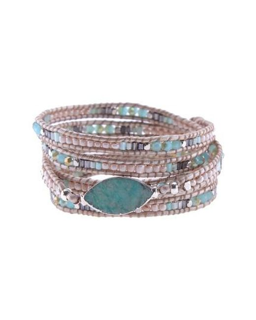 Nakamol - Multicolor Beaded Agate Wrap Bracelet - Lyst