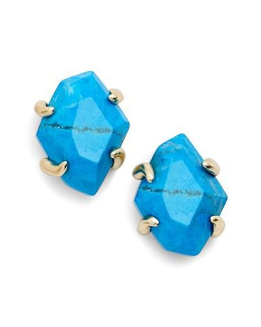 Kendra Scott Inaiyah Stone Stud Earrings 7Zlq6cmggm