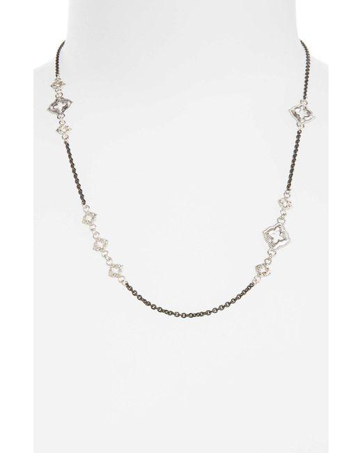 Armenta - Metallic New World Chain Scroll Station Necklace - Lyst