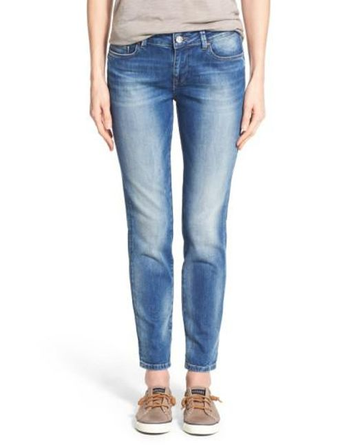 Mavi Jeans   Blue 'emma' Stretch Slim Boyfriend Jeans   Lyst