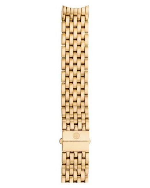 Michele - Metallic 'Serein' 16Mm Gold Plated Bracelet Watch Band - Lyst