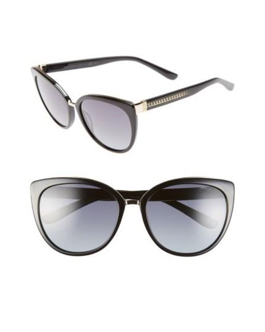 Jimmy Choo | Black 'danas' 56mm Cat Eye Sunglasses | Lyst
