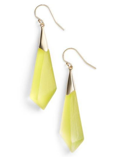 Alexis Bittar | Yellow Lucite Drop Earrings | Lyst