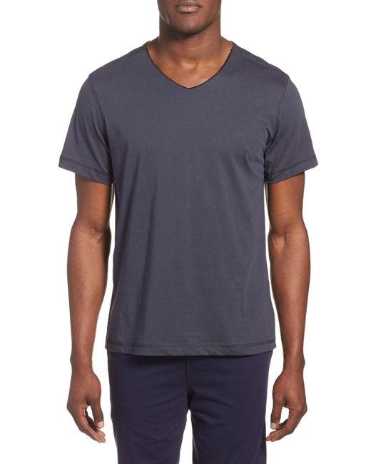Daniel Buchler - Blue Peruvian Pima Cotton V-neck T-shirt for Men - Lyst