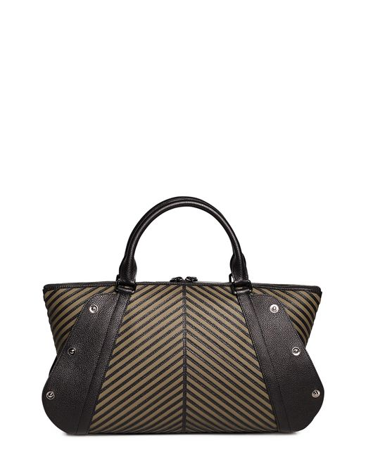 Akris - Multicolor Aimee Herringbone Leather Convertible Satchel - - Lyst