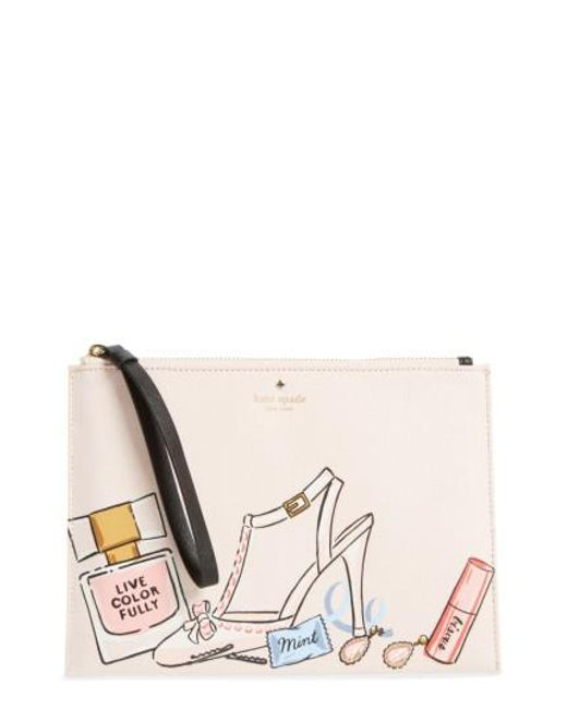 Kate Spade | Natural Wedding Belles - This Is The Life Medium Bella Pouch | Lyst