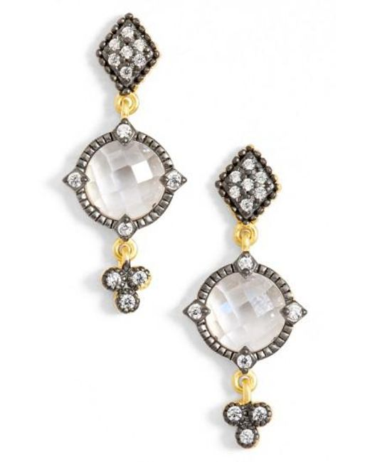Freida Rothman - Metallic Metropolitan Drop Earrings - Lyst