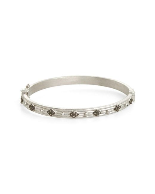 Armenta - Metallic New World Diamond Hinge Bangle - Lyst