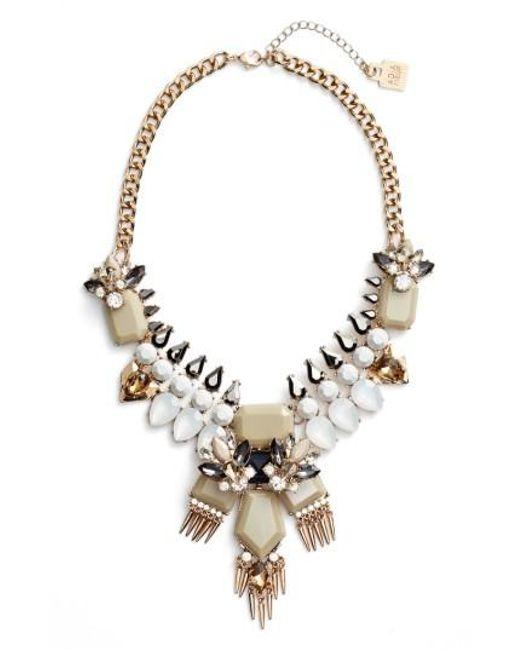 Adia Kibur | Metallic Crystal & Spike Statement Necklace | Lyst