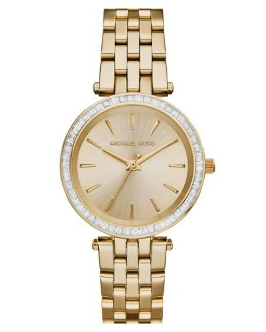 Michael Kors | Metallic Michael Kors 'mini Darci' Round Bracelet Watch | Lyst