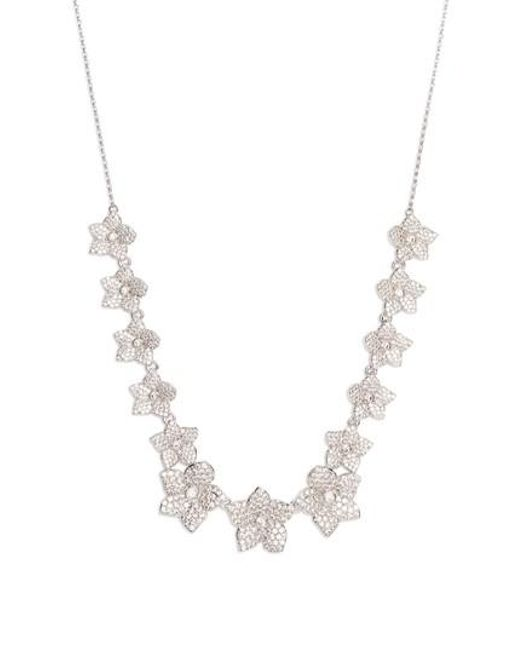Kate Spade - Metallic Blooming Pave Necklace - Lyst