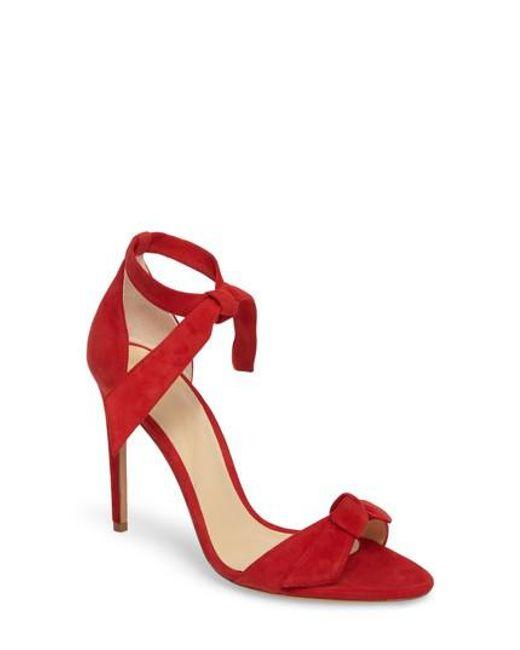 Alexandre Birman - Metallic 'clarita' Ankle Tie Sandal - Lyst
