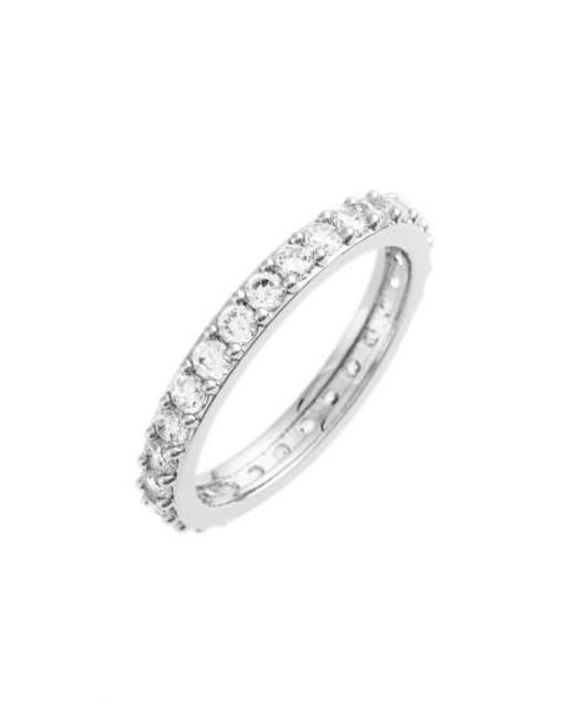 Nadri | Metallic Cubic Zirconia Pave Band Ring | Lyst