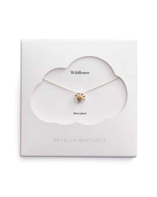 Estella Bartlett - Metallic Wildflower Necklace - Lyst