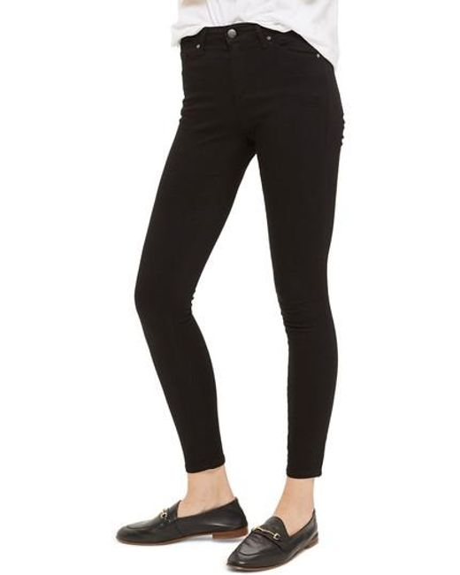 TOPSHOP - Black Leigh Jeans - Lyst