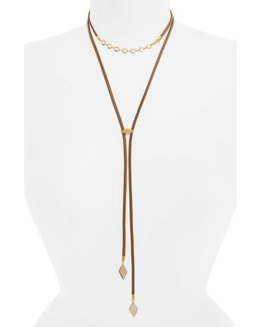 Vanessa Mooney | Multicolor The Cicely Bolo Necklace | Lyst