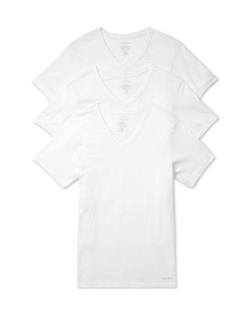 CALVIN KLEIN 205W39NYC - Slim Fit 3-pack Cotton T-shirt, White for Men - Lyst