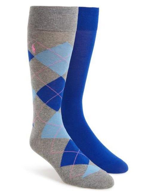 Polo Ralph Lauren | Blue Cotton Blend Socks for Men | Lyst