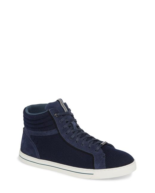 Ted Baker - Blue Luckan High Top Sneaker for Men - Lyst