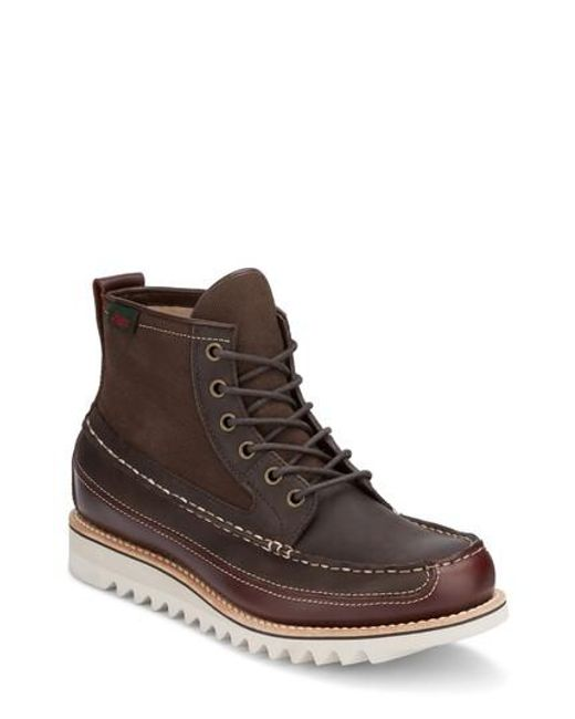 G.H. Bass & Co. | Brown Nickson Razor Moc Toe Boot for Men | Lyst