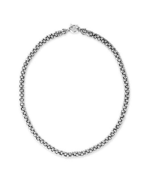 Lagos | Metallic Sterling Silver Caviar 7mm Rope Necklace | Lyst